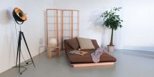 Layti bed as a sofa in a sitting position - (futon is not included)
