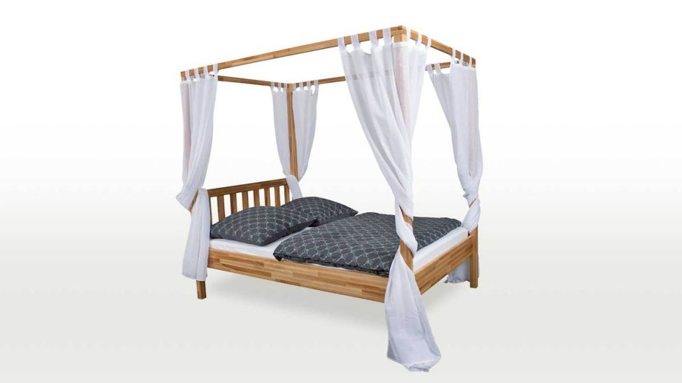 Canopy bed Karoline - Curtains not included in the price.