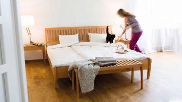 Bed Zebra - gentle lines in a classic design|Bed Zebra; wood species beech