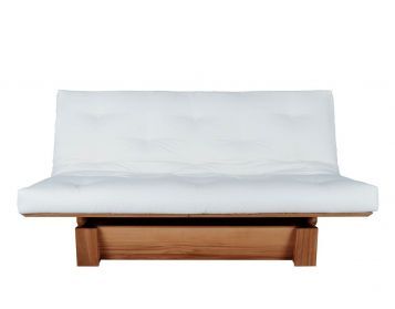 Sofa bed b2 with futon. Available in 10 different types of wood. (See below for wood samples).