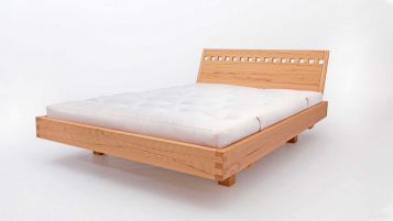 Floating Bed Exil: headboard with gaps