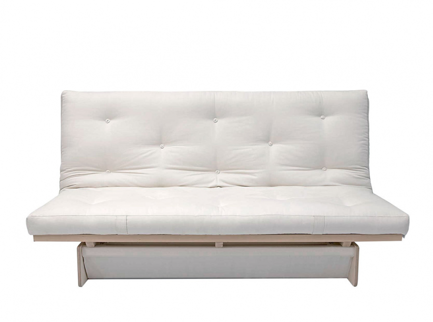 Stable sofa frame with spacious bed box
