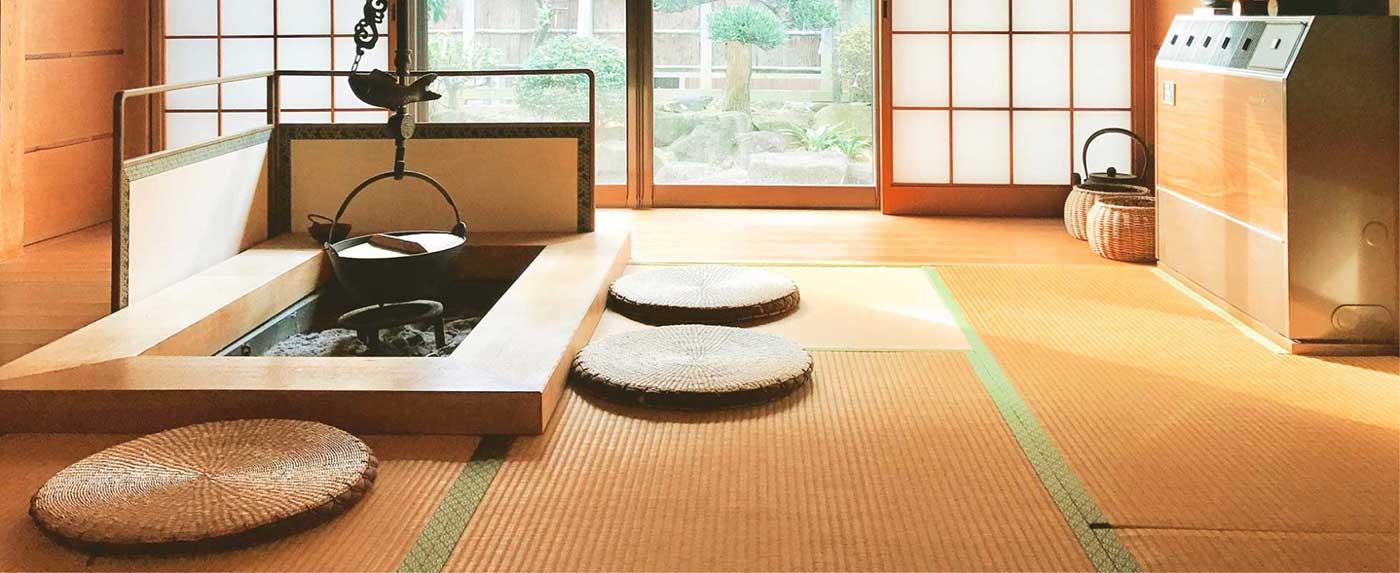 Tatami-Matten als Fussboden