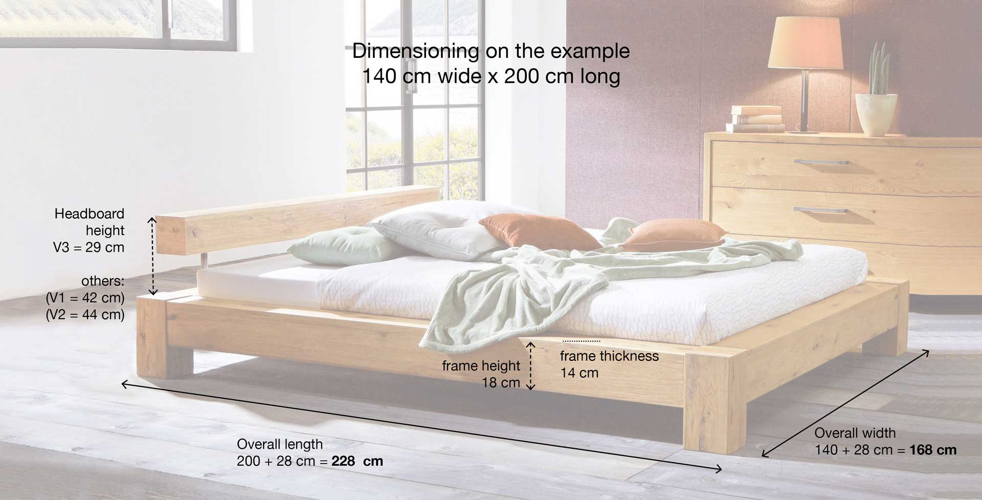 Bed 140 Cm.Bed Cobo